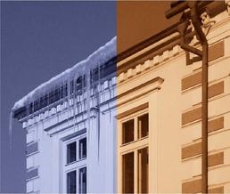 Противообледенителни системи за покриви, улуци и водосточни тръби